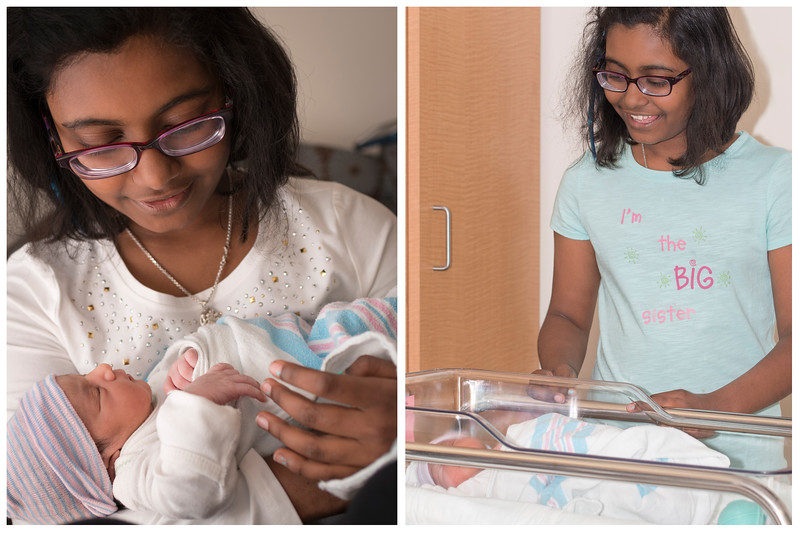 On the right is the first look at her dream-come-true sister