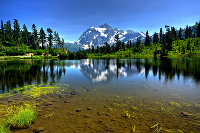 Mt. Shuksan at Picture Lake North Cascades National Park Wahington