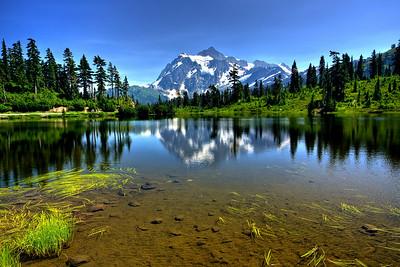 Mt. Shuksan at Picture Lake North Cascades National Park Wahington
