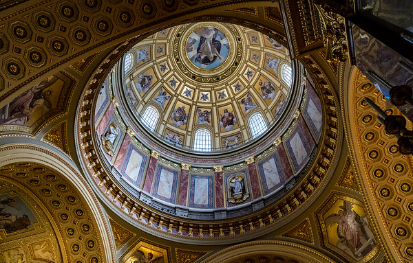 Ornate Dome Of St. Stephen's Basilica