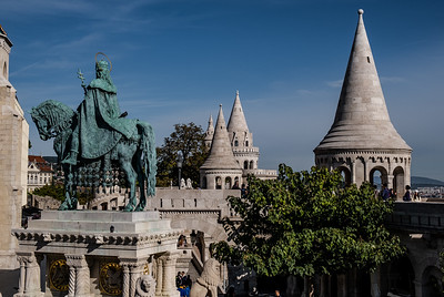 The Fisherman's Bastion, In The Buda Castle District, Is A Major Tourist Attraction