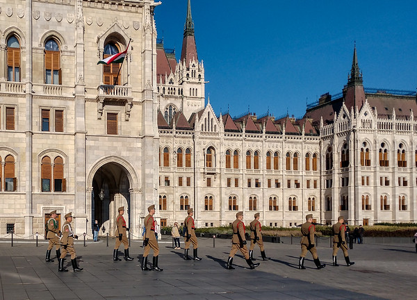 Entrance To The Hungarian Parliament Building