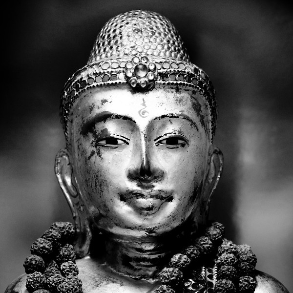 Black & White Mandalay Buddha