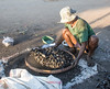 Sifting charcoal