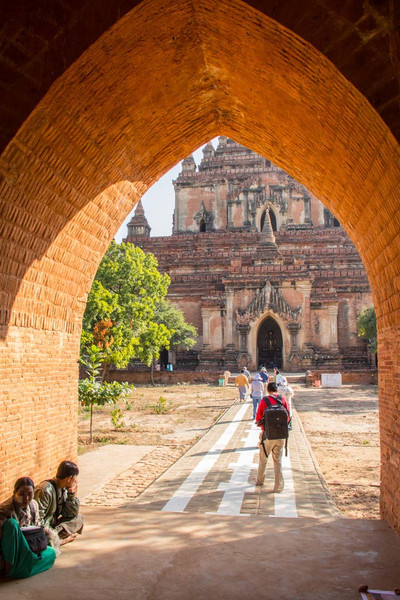 Bagan.  One of the larger temples.