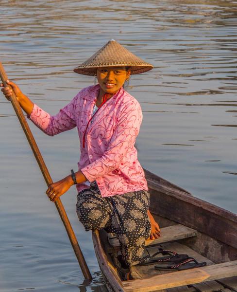 A very pretty boat operator