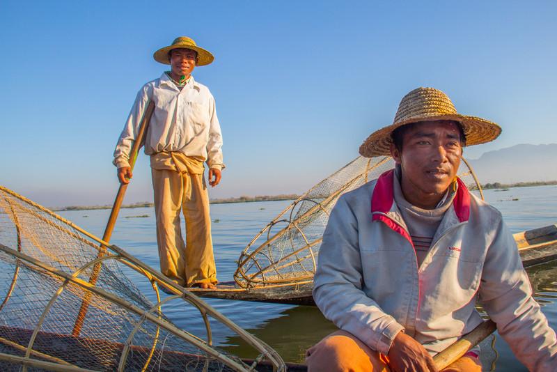 Inle Lake fishermen at first light