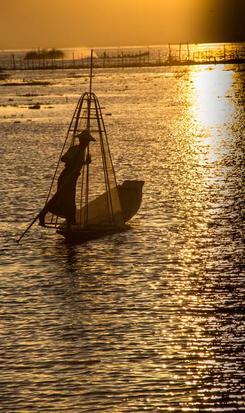 Inle Lake Sunset
