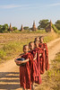 Novice monks posing for us