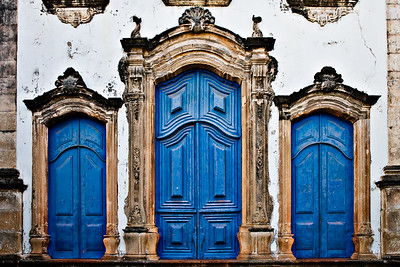 Three-Blue-Antigo-Doors