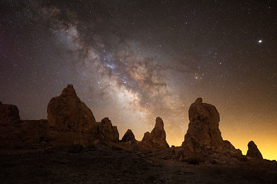 Trona Pinnacles Milky Way
