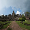 ANGKOR. ANGKOR THOM. VIEW AT THE BAYON TEMPLE.