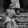 ANGKOR. ANGKOR THOM. BAYON. YOUNG MONKS. SIEM REAP.