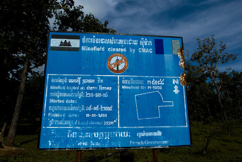 KOH KER. MINEFIELD CLEARED SIGN.