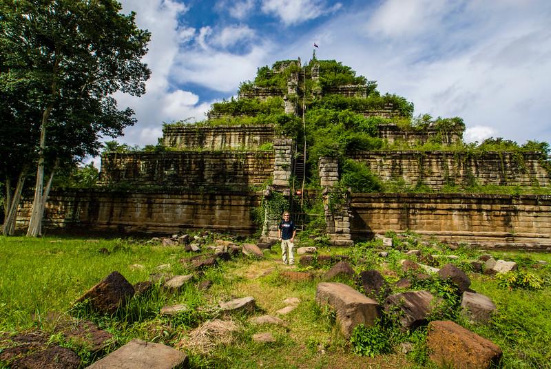 Koh Ker's seven-tiered pyramid, named Prang, Koh Ker, Cambodia - Asia