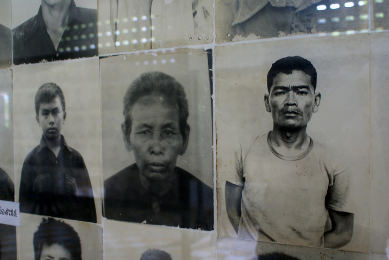 PHNOM PENH. TUOL SLENG S21 MUSEUM. PHOTOS OF THE VICTIMS.