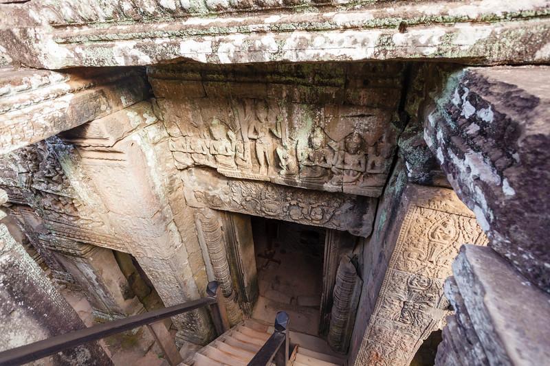 Bayon temple, Angkor Thom, Angkor, Siem Reap province, Cambodia, Asia
