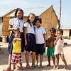 PHNOM PENH. KIDS IN A GARBAGE DUMP VILLAGE.
