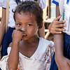 PHNOM PENH. LITTLE GIRL IN THE GARBAGE DUMP VILLAGE.