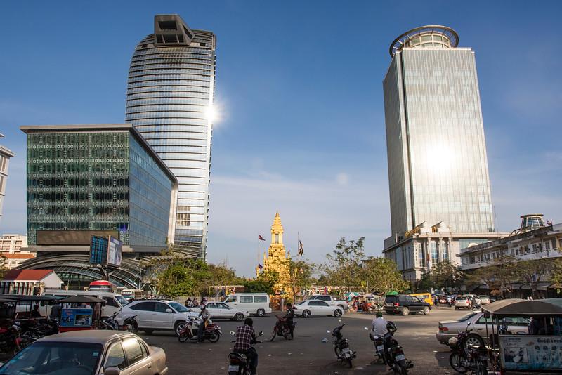 PHNOM PENH. SKY SCRAPERS.