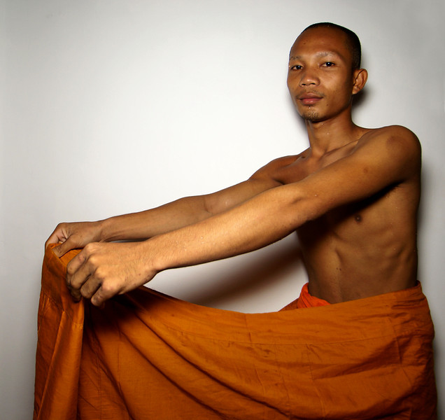 MONK SAN SHOWS HIS ROPE [2]. SIEM REAP. CAMBODIA.
