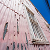 VALPARAISO. FACADE OF A PINK HOUSE.