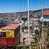 VALPARAISO. VIEW AT THE CITY FROM ASCENSOR ARTILLERIA.