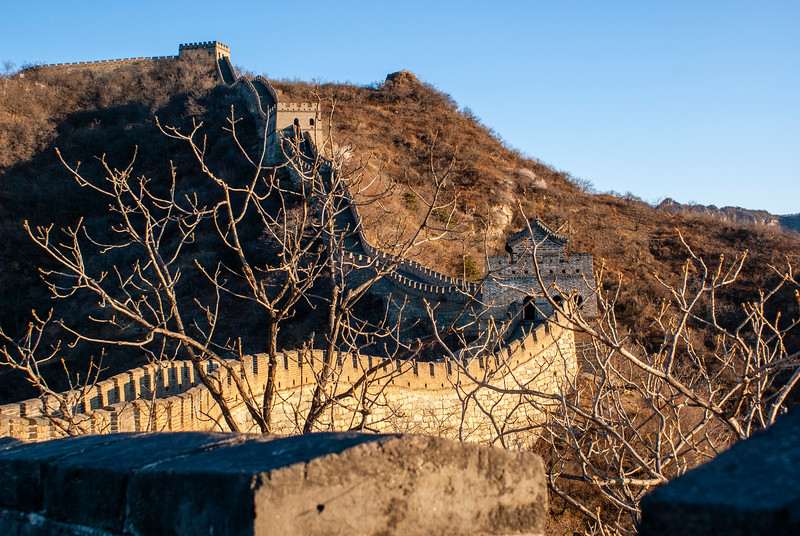 Sunrise at the Great Wall in Mutianyu