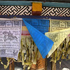LIJANG. SHUHE OLD TOWN. PRAYER FLAGS IN THE TEMPLE. YUNNAN. CHINA.