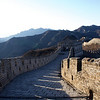 GREAT WALL. SUNRISE AT THE GREAT WALL IN MUTIANYU. CHINA.