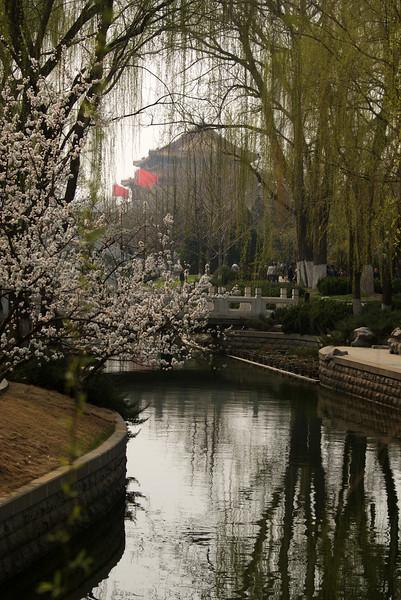 Beijing - Peking Tiananmen Square + Hutong achter Verboden Stad op 03-04-09