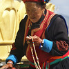 Shangri-la, big prayer wheel, temple