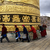 SHANGRI-LA. YUNNAN. BIGGEST PRAYER WHEEL OF THE WORLD.