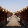 BEIJING. FORBIDDEN CITY. A SILENT STREET INSIDE THE PALACE. CHINA.