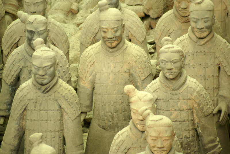 XI'AN. TERRACOTTA WARRIORS. QIN DYNASTY. CHINA. [1]