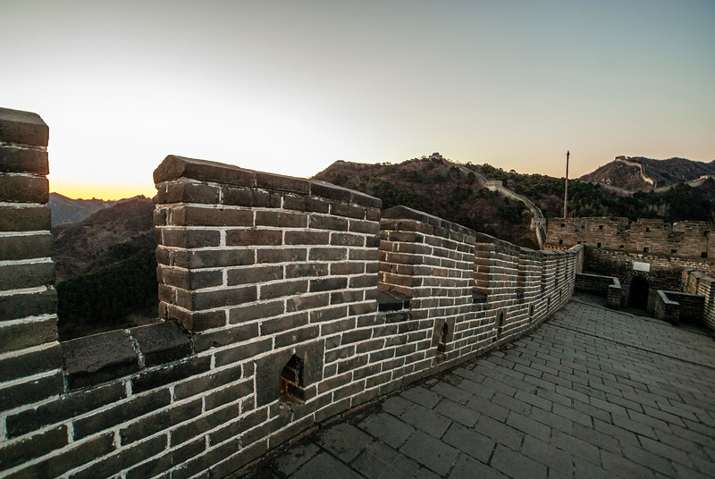 Sunrise at the Great Wall in Mutianyu, China