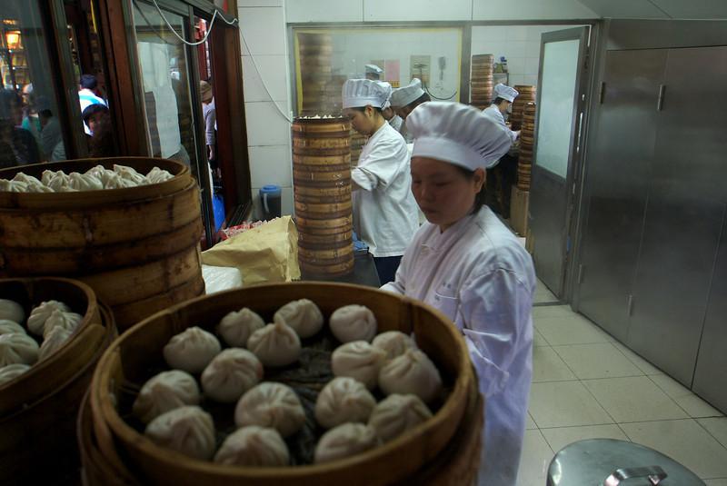 SHANGHAI. DUMPLINGS LOCAL SPECIALITIES.