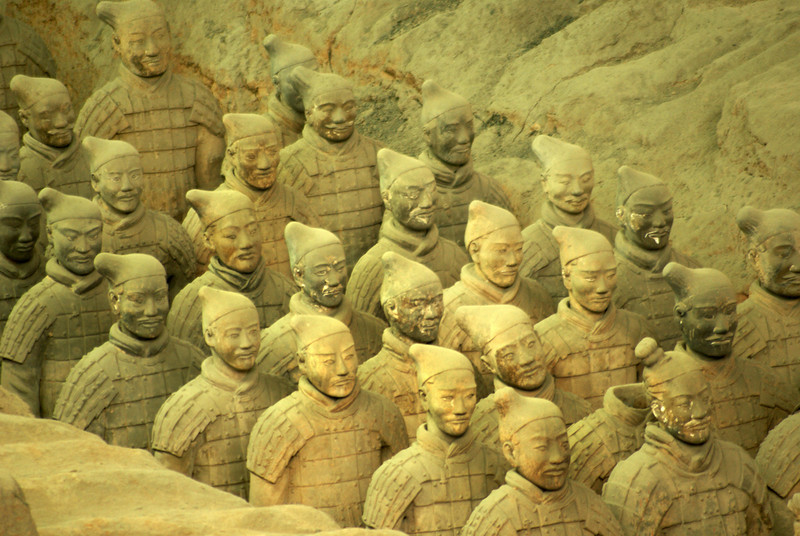 XI'AN. TERRACOTTA WARRIORS. QIN DYNASTY. CHINA. [2]