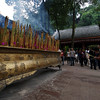 LESHAN. GIANT BUDDHA. PRAYING. SICHUAN. CHINA.