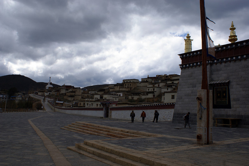 Song Zan Lin Si temple, oustide Shangri-la, Yunnan Province, China. It's the second largest and oldest Buddhist temple after the famous Tibetan temple Pudala.