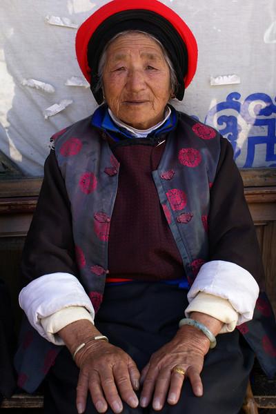 SHANGRI-LA. YUNNAN. A PORTRAIT OF AN OLD TIBETTAN LADY [77 Y.O.].