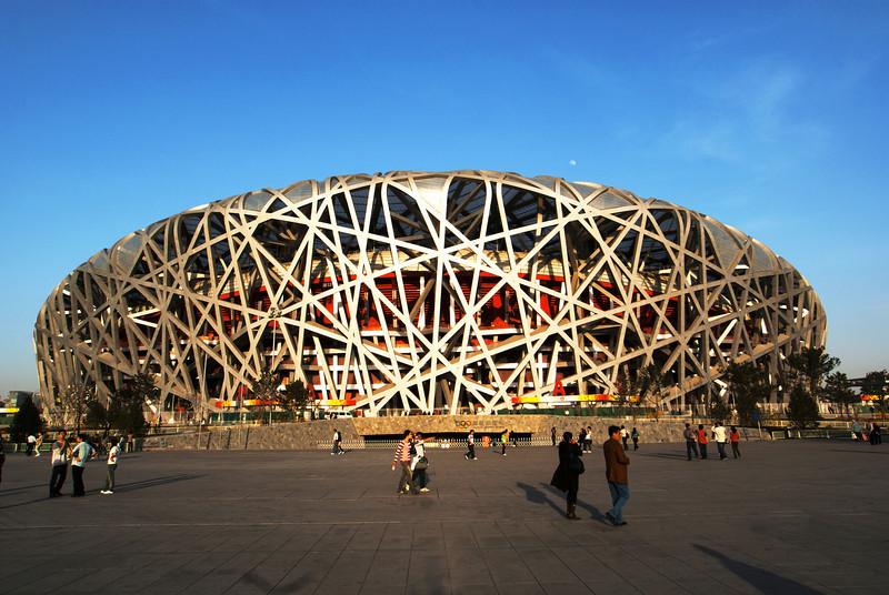 BEIJING. OLYMPIC SUMMER GAMES BEIJING 2008 AREA. THE OLYMPIC STADIUM 'BIRD'S NEST [鸟巢].
