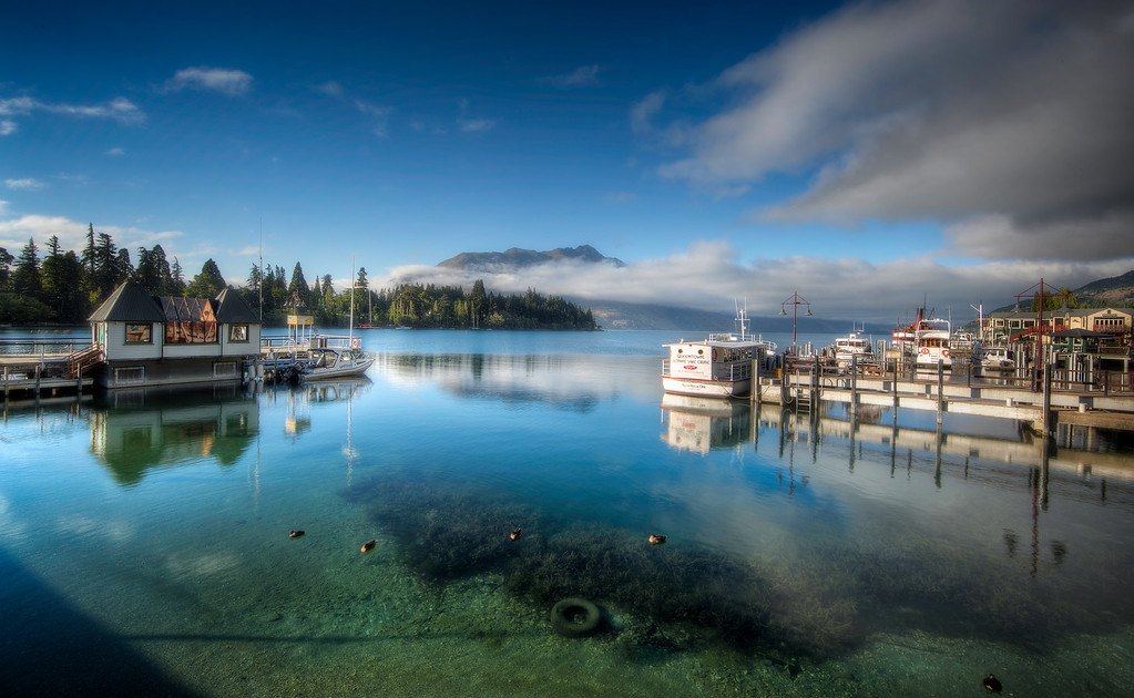 One Lovely Morning at Queenstown Harbour