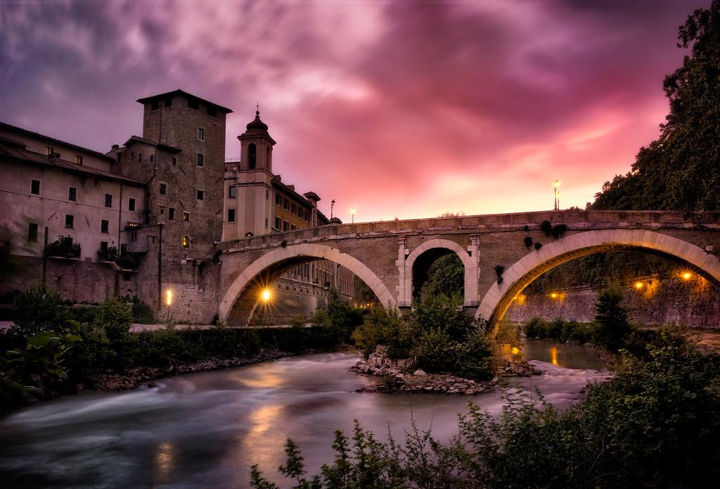 Sunset O'er The Ponte Fabricio