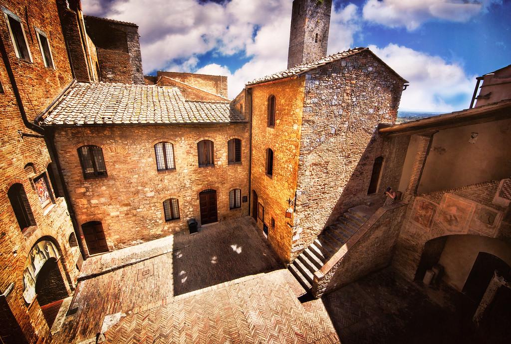 The Courtyard of San Gimignano