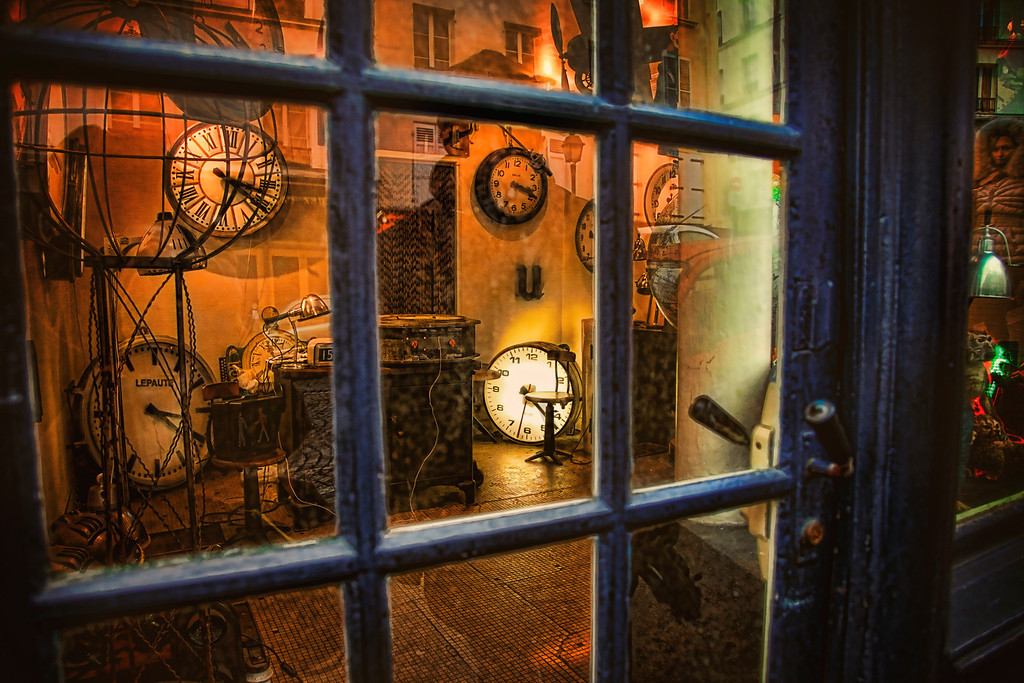 The Clock Shop in Montmartre