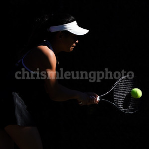 2/18/19: USF WTEN vs Cal Poly at The Olympic Club in Daly City, CA.  Image by Chris M. Leung for USF Dons Athletics