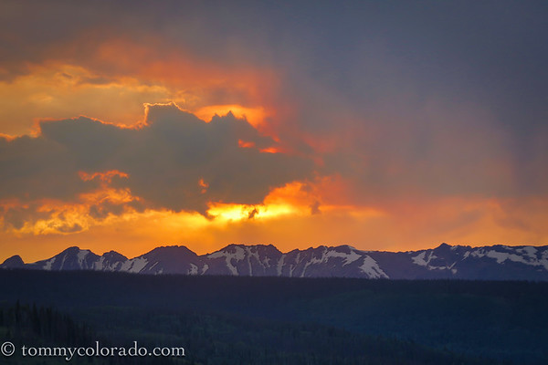 Gore Range Sunset