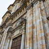 Facade of catedral Primada cathedral in Bogota, Colombia, South America