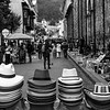 Panama hats for sale in the center of Bogota, Colombia - South America